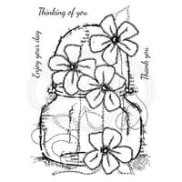 Creative Expressions - Woodware Clear Singles - Clear Photopolymer Stamps - Small Daisy