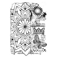 Creative Expressions - Woodware Clear Singles - Clear Photopolymer Stamps - Broken Tile