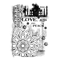 Creative Expressions - Woodware Clear Singles - Clear Photopolymer Stamps - Indian Treasures