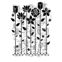 Creative Expressions - Woodware Clear Singles - Clear Photopolymer Stamps - Dreamy Garden
