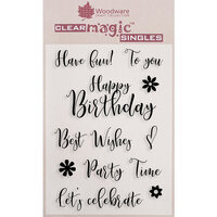 Creative Expressions - Woodware Clear Singles - Clear Photopolymer Stamps - Scripted Wishes