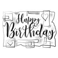 Creative Expressions - Woodware Clear Singles - Clear Photopolymer Stamps - Birthday Strips
