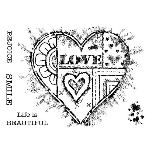 Creative Expressions - Woodware Clear Singles - Clear Photopolymer Stamps - Bold Heart