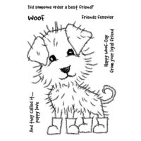 Creative Expressions - Woodware Clear Singles - Clear Photopolymer Stamps - Puppy Boots