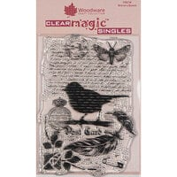 Creative Expressions - Woodware - Clear Acrylic Stamps - Singles - Bird on a Branch