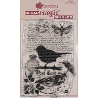 Creative Expressions - Woodware - Clear Photopolymer Stamps - Singles - Bird on a Branch