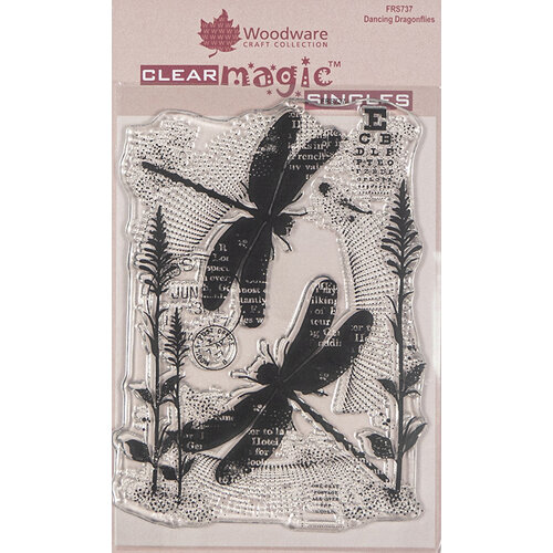 Creative Expressions - Woodware - Clear Acrylic Stamps - Singles - Dancing Dragonflies