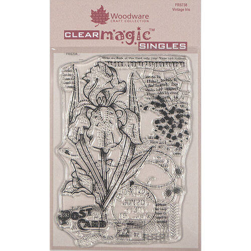 Creative Expressions - Woodware - Clear Acrylic Stamps - Singles - Vintage Iris