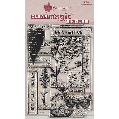 Creative Expressions - Woodware - Clear Acrylic Stamps - Singles - Layered Collage