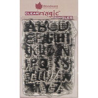 Creative Expressions - Woodware - Clear Acrylic Stamps - Singles - Alpha Background