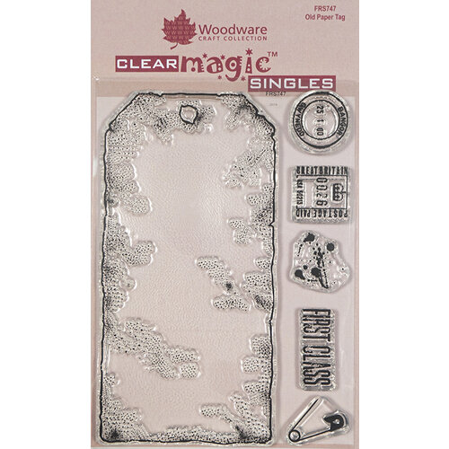 Creative Expressions - Woodware - Clear Acrylic Stamps - Singles - Old Paper Tag