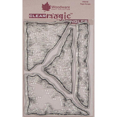 Creative Expressions - Woodware - Clear Acrylic Stamps - Singles - Paper Scraps