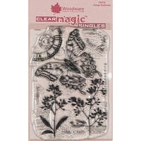 Creative Expressions - Woodware - Clear Acrylic Stamps - Singles - Vintage Swallowtail
