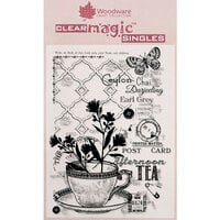 Creative Expressions - Woodware - Clear Acrylic Stamps - Afternoon Tea