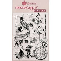 Creative Expressions - Woodware - Clear Acrylic Stamps - Gentleman Collage