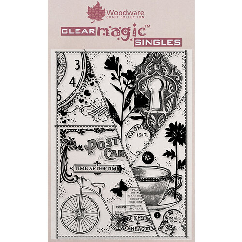 Creative Expressions - Woodware - Clear Acrylic Stamps - Vintage Patchwork