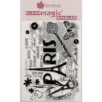 Creative Expressions - Woodware - Clear Acrylic Stamps - Paris Postcard