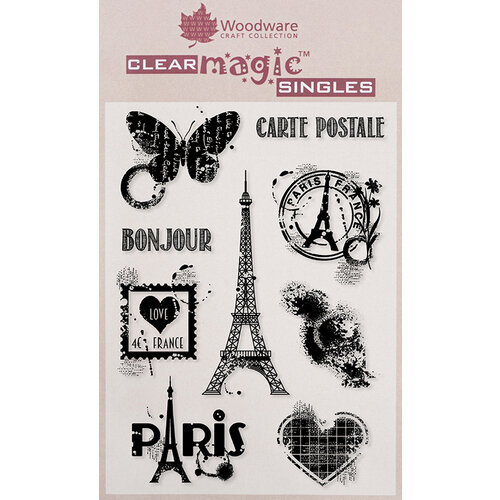 Creative Expressions - Woodware - Clear Acrylic Stamps - Paris Elements