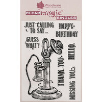 Creative Expressions - Woodware - Clear Acrylic Stamps - Vintage Phone