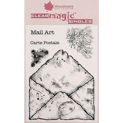 Creative Expressions - Woodware - Clear Acrylic Stamps - Old Envelope