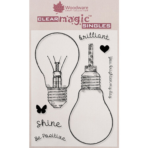 Creative Expressions - Woodware - Clear Acrylic Stamps - Fill Me Lightbulb
