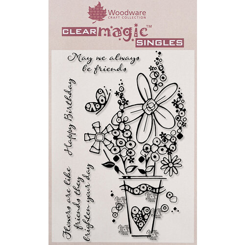 Creative Expressions - Woodware - Clear Acrylic Stamps - Millefiori Vase