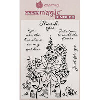 Creative Expressions - Woodware - Clear Acrylic Stamps - Millefiori Garden