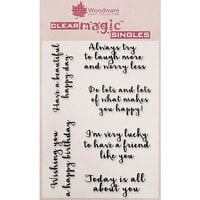 Creative Expressions - Woodware - Clear Acrylic Stamps - Happy Thoughts