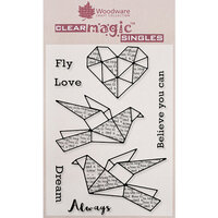 Creative Expressions - Woodware - Clear Acrylic Stamps - Paper Birds