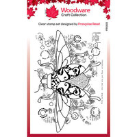 Creative Expressions - Woodware - Clear Acrylic Stamps - Dancing Beetle