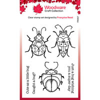 Creative Expressions - Woodware - Clear Acrylic Stamps - Cute Bugs