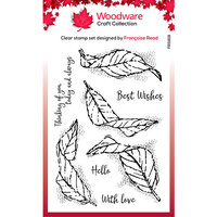 Creative Expressions - Woodware - Clear Acrylic Stamps - Fluttering Leaves
