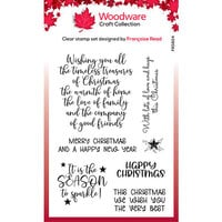 Creative Expressions - Woodware - Clear Acrylic Stamps - Singles - Christmas Words