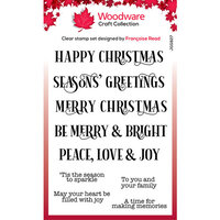 Creative Expressions - Woodware - Clear Acrylic Stamps - Singles - Christmas Sparkle