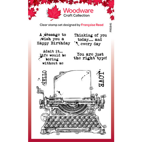 Creative Expressions - Woodware - Clear Photopolymer Stamps - Singles - Vintage Typewriter