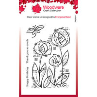 Creative Expressions - Woodware - Clear Photopolymer Stamps - Singles - Flower Blooms
