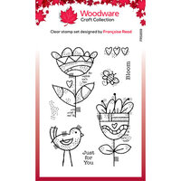 Creative Expressions - Woodware - Clear Photopolymer Stamps - Singles - Blooming