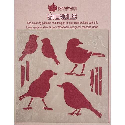 Creative Expressions - Woodware - Stencils - 6 x 6 - Birds