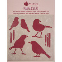 Creative Expressions - Woodware - Stencils - 6 x 6 - Birds
