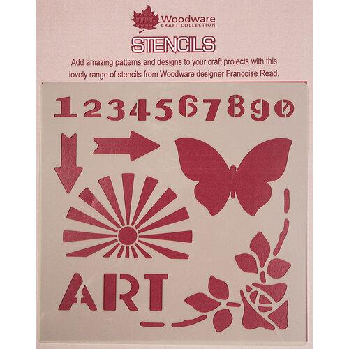 Creative Expressions - Woodware - Stencils - 6 x 6 - Art Deco Elements