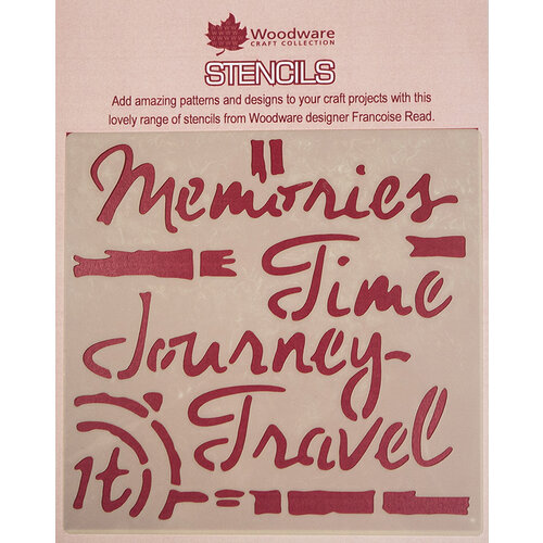 Creative Expressions - Woodware - Stencils - 6 x 6 - Time Travel