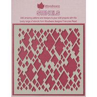 Creative Expressions - Woodware - 6 x 6 Stencil - Diamond Mesh