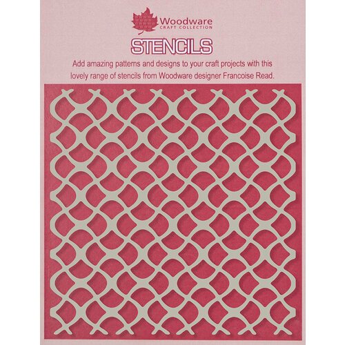Creative Expressions - Woodware - 6 x 6 Stencil - Scaly Mesh