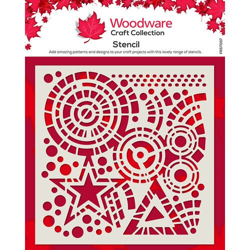 Creative Expressions - Woodware - 6 x 6 Stencil - Stars and Circles