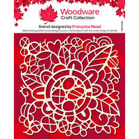 Creative Expressions - Woodware - Stencil - Flower Doodle