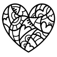 Creative Expressions - Woodware - Stencils - Doodle Heart