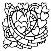 Creative Expressions - Woodware - Stencils - Heart Window