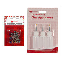 Creative Expressions - Woodware - Ultra Fine Tip Glue Applicators and Stainless Steel Replacement Pins Bundle
