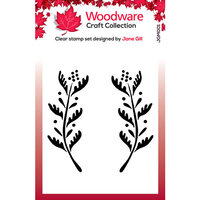Creative Expressions - Woodware - Clear Acrylic Stamps - Singles - Ellie Leaf