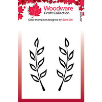 Creative Expressions - Woodware - Clear Acrylic Stamps - Singles - Fiona Leaf